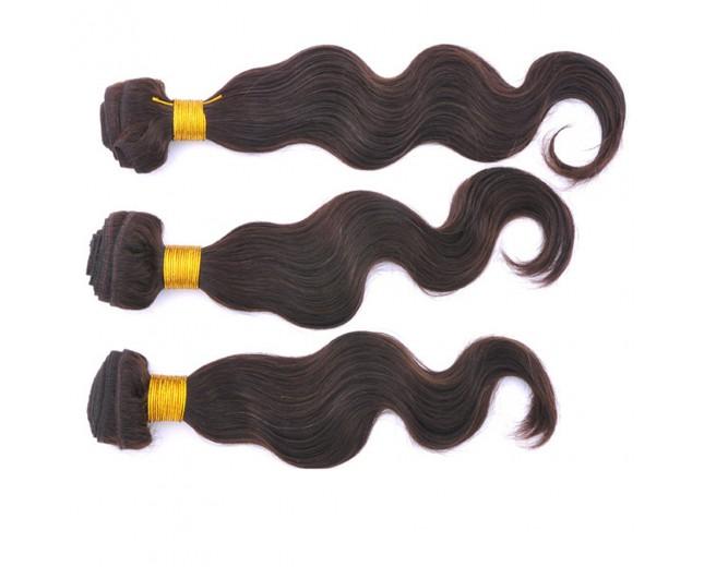 Dark Brown (#2) Brazilian Virgin Hair Weave Body Wave BV0020
