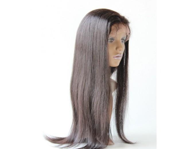 Brazilian Straight Virgin Hair Glueless Full Lace Wigs FLW006