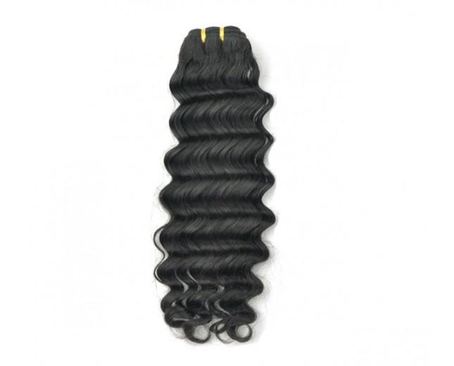 #1 Jet Black Peruvian Hair Deep Wave PV001