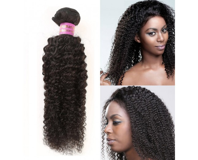 3pcs/lot Afro Curly Malaysian Virgin Hair Extensions 8''-30'' MD008