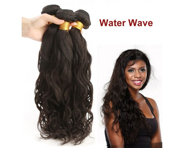 3pcs/lot Water Wave Virgin Peruvian Hair Bundles PD0012