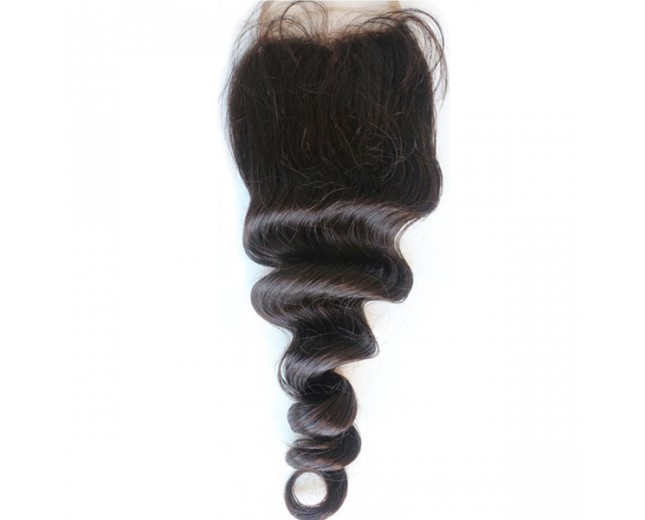 14inch Loose Wave Ombre Lace Closure 3 Part Virgin Brazilian Hair 4''*4''