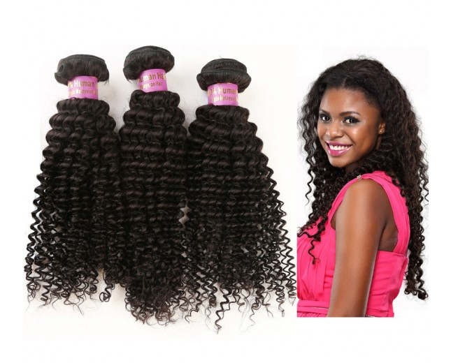 3 Bundles Kinky Curly Malaysian Virgin Hair Extensions MD007