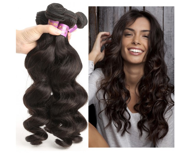 3pcs/lot Loose Wave Virgin Malaysian Hair Weave Bundles MD003