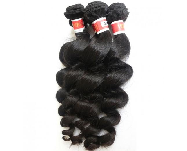 3pcs/lot Loose Wave Virgin Peruvian Hair Mixed Length PD002