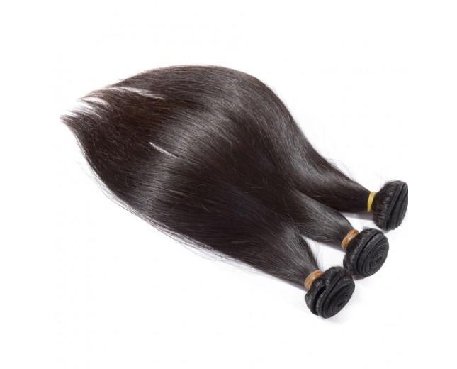 3 Bundles Brazilian Straight Virgin Hair Weave Mixed Length BD006
