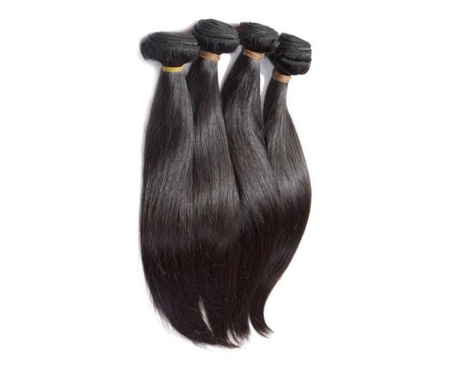 4pcs/lot Straight Virgin Brazilian Hair Weave Bundles BD0061