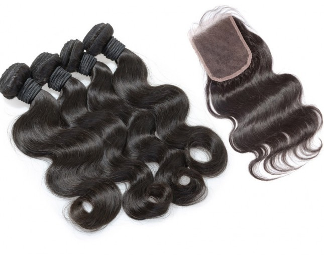 4 Bundles Body Wave Hair with 1pc Lace Closure Virgin Brazilian Hair BL0025