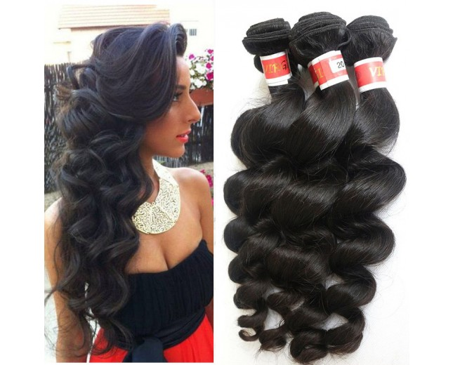 4pcs/lot Peruvian Loose Wave Virgin Hair Weave Bundles PD0022