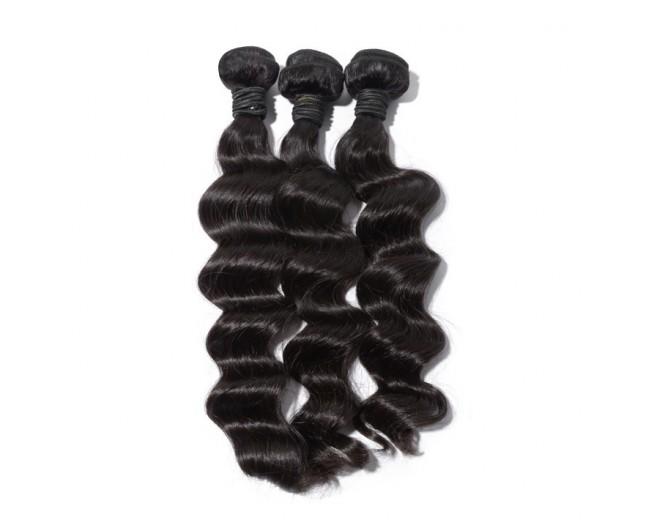 3pcs/lot Loose Deep Wave Virgin Brazilian Hair Mixed Length BD008