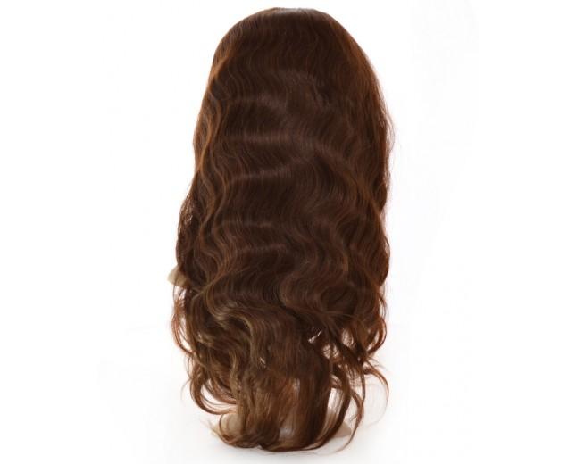 Brown (4#) Body Wave Full Lace Wigs Brazilian Virgin Hair FLW0012