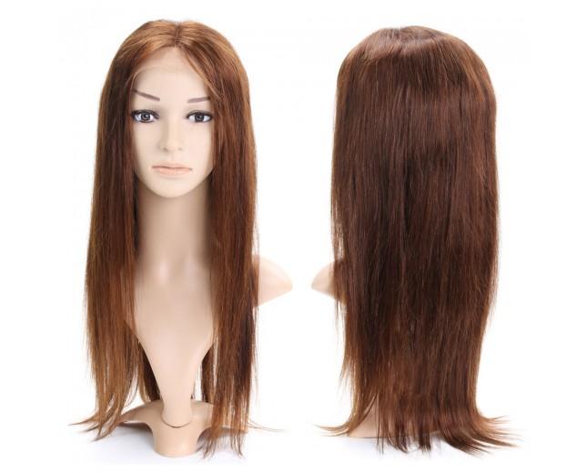 #4 Brown Silk Straight Full Lace Wigs Brazilian Virgin Hair FLW002