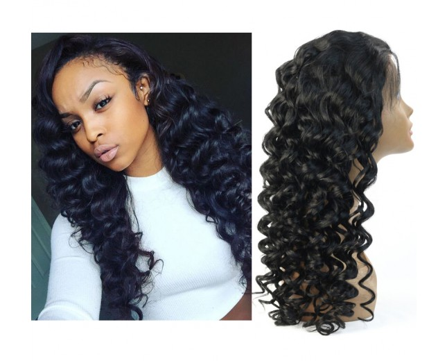 Loose Deep Wave Lace Front Wigs 100% Brazilian Virgin Hair LFW005