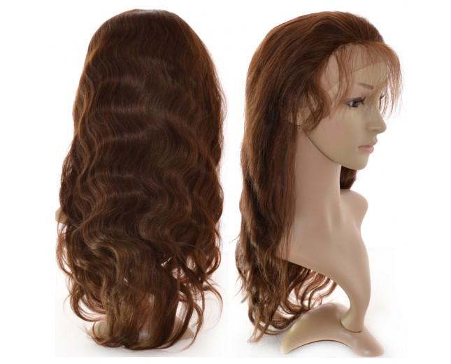 Brown(#4) Body Wave Lace Front Wigs Brazilian Virgin Hair LFW0013