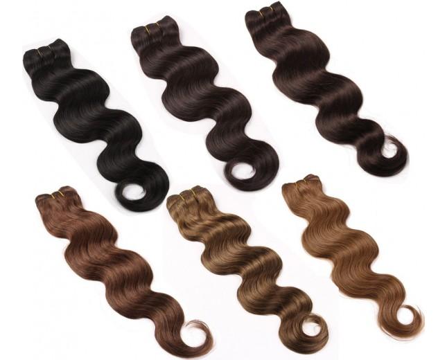 3pcs/lot Brazilian Body Wave Virgin Hair Bundles 6 Colors Available BD0051
