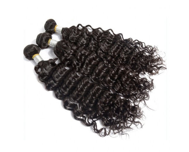 2pcs/lot Deep Wave Brazilian Virgin Hair Weave BD0021