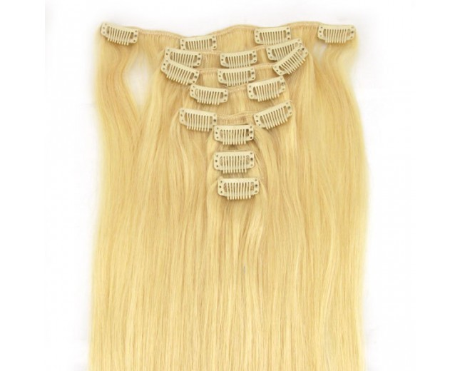 #613 15''-24'' Clip In Hair Extensions CR003