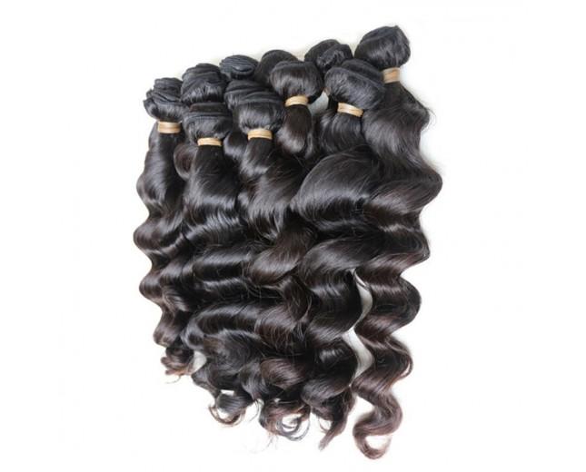 Grade 7A 10 Bundles Loose Wave Brazilian Virgin Hair Weave ( 2 of each 18,20,22,24,26)
