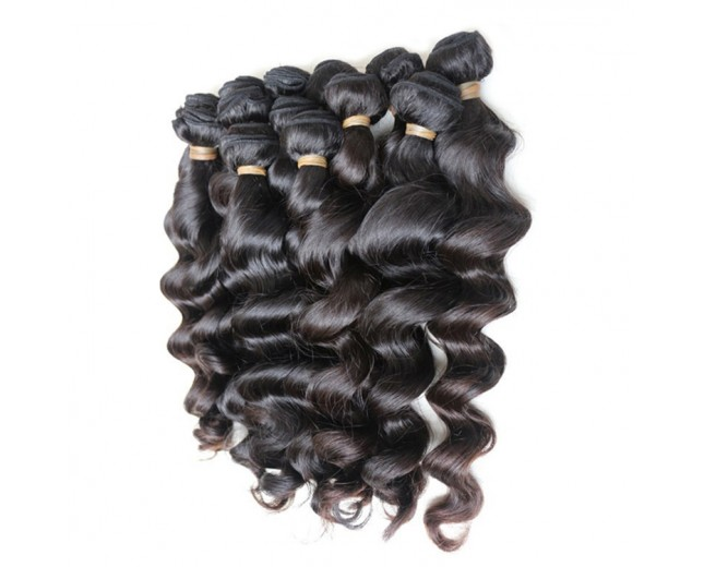 4 Bundles 30inch Black  Loose Wave Brazilian Virgin Hair Weave