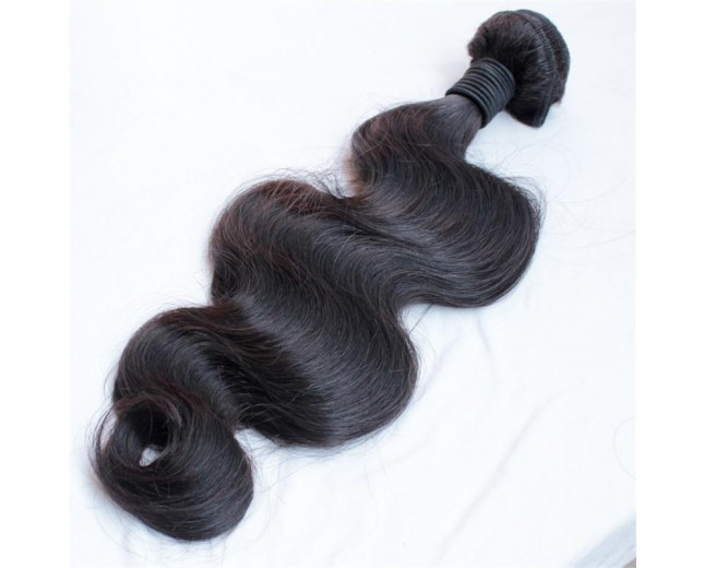 Jet Black(#1) Brazilian Virgin Hair Weave Body Wave BV0019