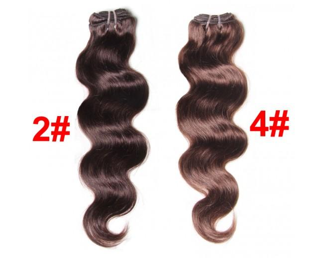 2# 4# Brown Malaysian Virgin Hair Weave Body Wave MR001