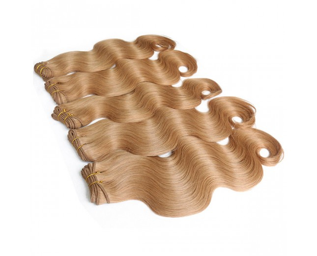 3pcs/lot Brazilian Body Wave Virgin Hair Bundles Color 27 Honey Blonde BD0052