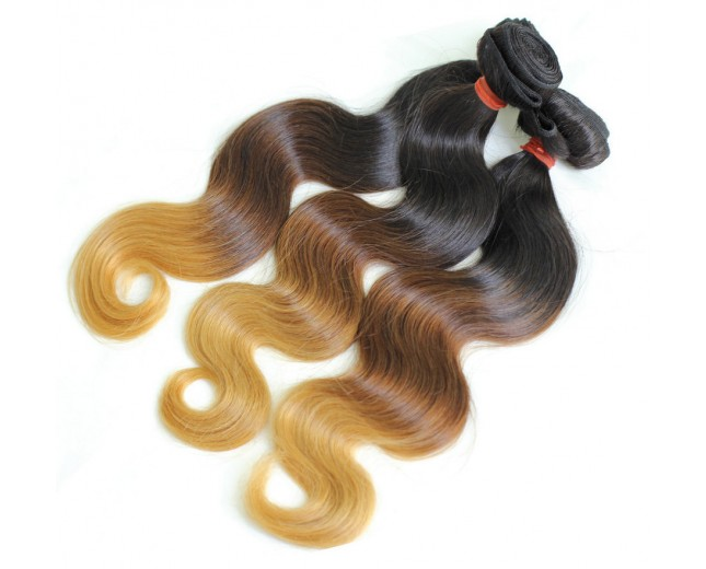 Ombre Hair Body Wave Three Tone Color Brazilian Remy Hair Weave BR003