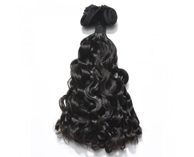 Double Drawn Brazilian Big Curl Virgin Hair Weave BRV0015