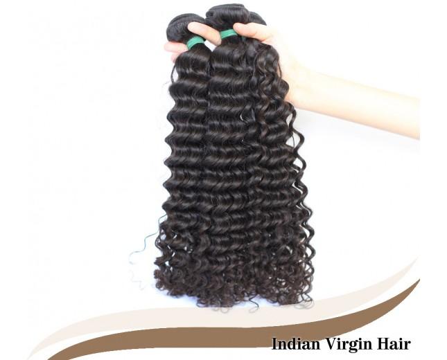 3pcs/lot Curly Indian Virgin Hair Weave Bundles ID005