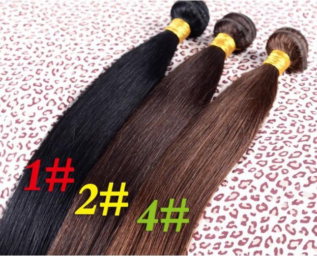 3pcs/lot Brazilian Straight Virgin Hair Bundles Color 1#/1B#/2#/4# BD0050