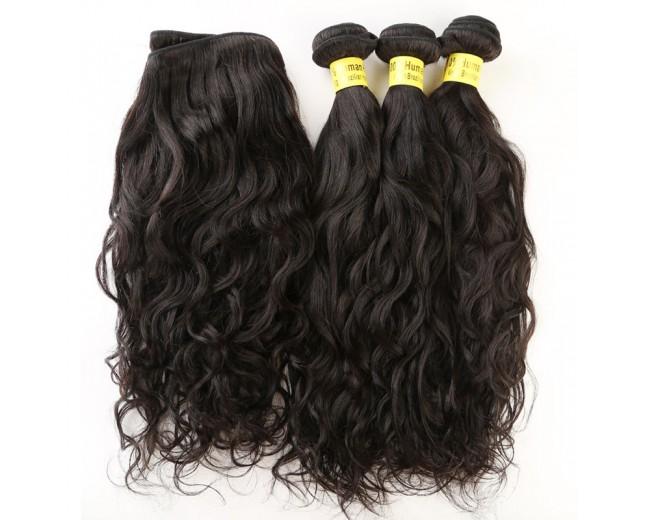 4pcs/lot Brazilian Water Wave Virgin Hair Weave Bundles BD0064