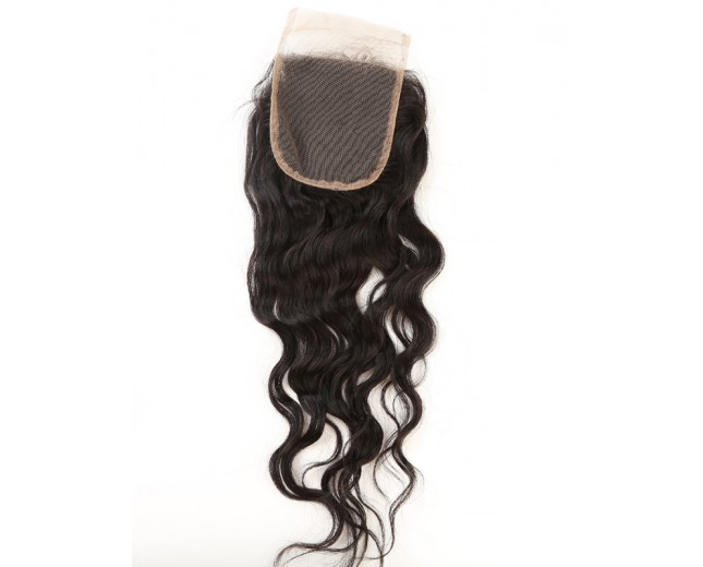 Brazilian Water Wave Lace Closure Free Middle 3 Part Virgin Hair Closure LC0019