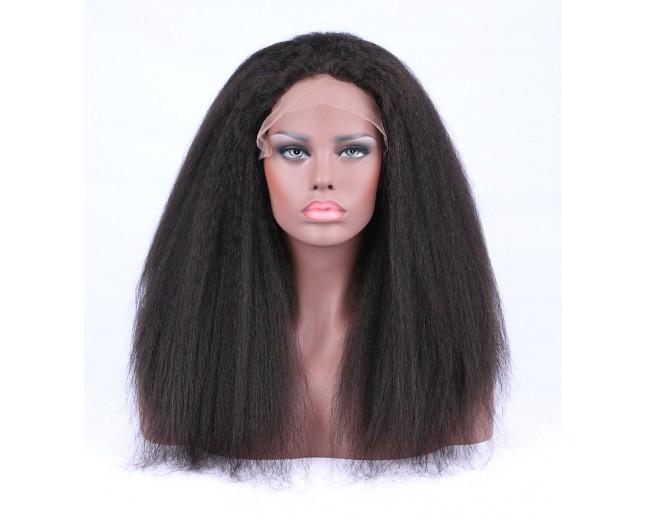 Kinky Straight Glueless Full Lace Wigs Brazilian Virgin Hair FLW0034