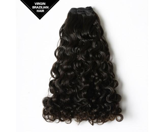 Double Drawn Curly Brazilian Virgin Hair Weave BRV005