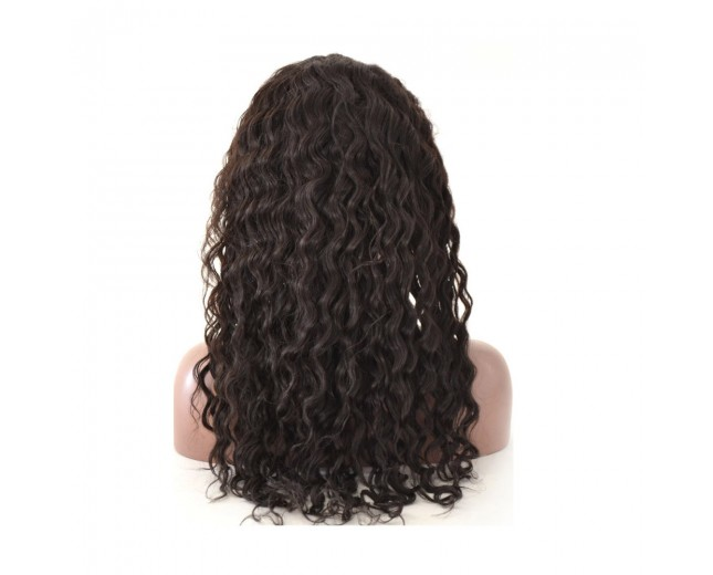 Hot Sale Jerry Curly Brazilian Virgin Hair Lace Front Wigs LFW0038
