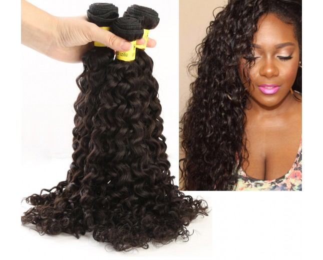 3 Bundles Curly Brazilian Virgin Hair Weave 100% Human Hair Bundles BD002
