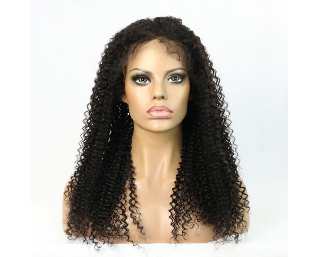 Kinky Curly Brazilian Virgin Hair Lace Front Wigs LFW0033