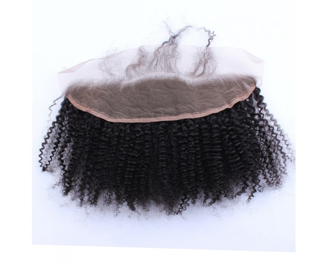 13''*4'' Afro Curly Lace Frontal Brazilian Virgin Hair LC0053