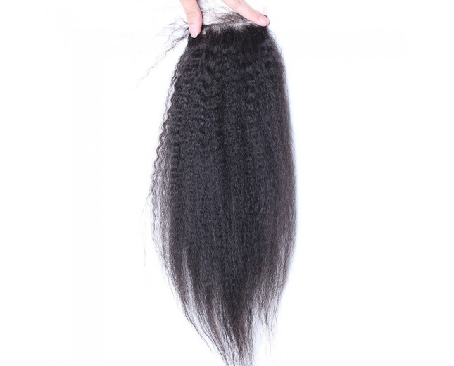 Kinky Straight Lace Closure Virgin Brazilian Hair LC0041