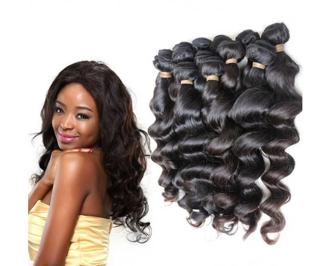 4pcs/lot Loose Wave Virgin Brazilian Hair Weave Bundles BD0062