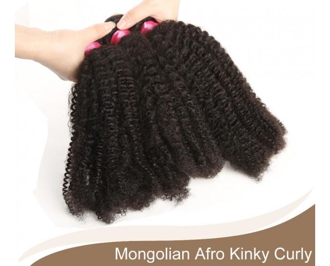 1 bundle Mongolian Afro Kinky Curly Virgin Hair 100% Human Hair GV004