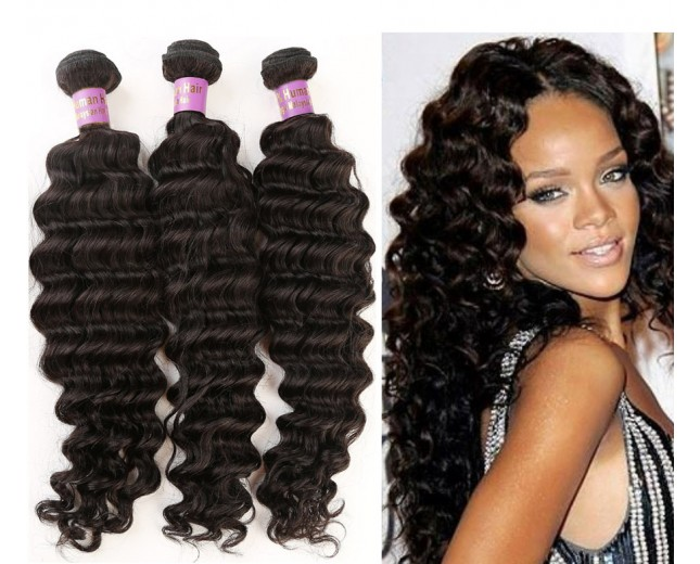 3pcs/lot Deep Wave Virgin Malaysian Hair Weave Bundles MD004