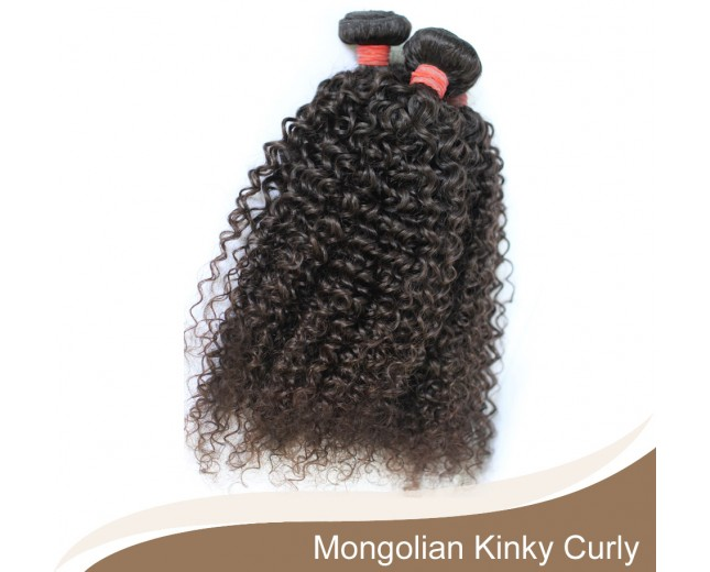 1 bundle Mongolian Kinky Curly Virgin Hair 100% Human Hair GV001