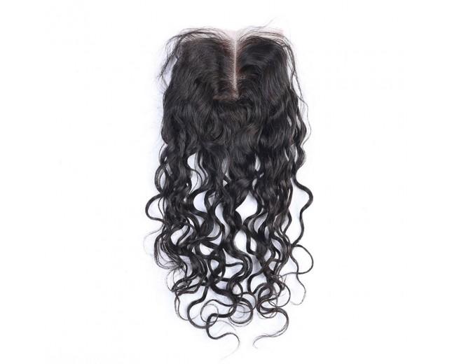Peruvian Natural Curly Virgin Hair Lace Closure LC0054