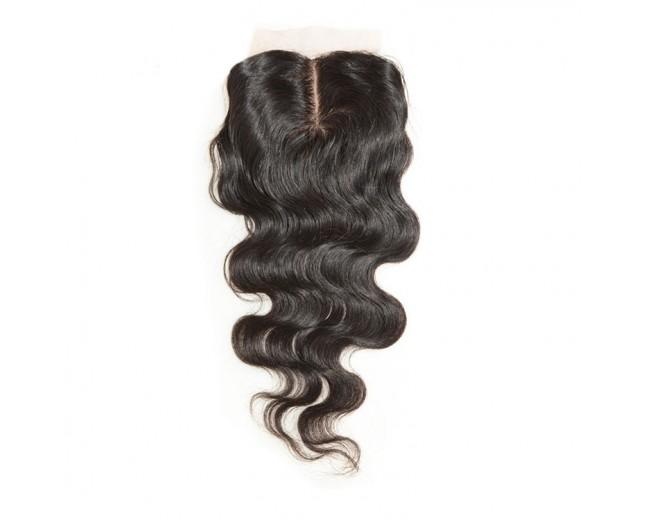 3.5''*4'' Middle Part Lace Closure Virgin Brazilian Hair Body Wave LC009