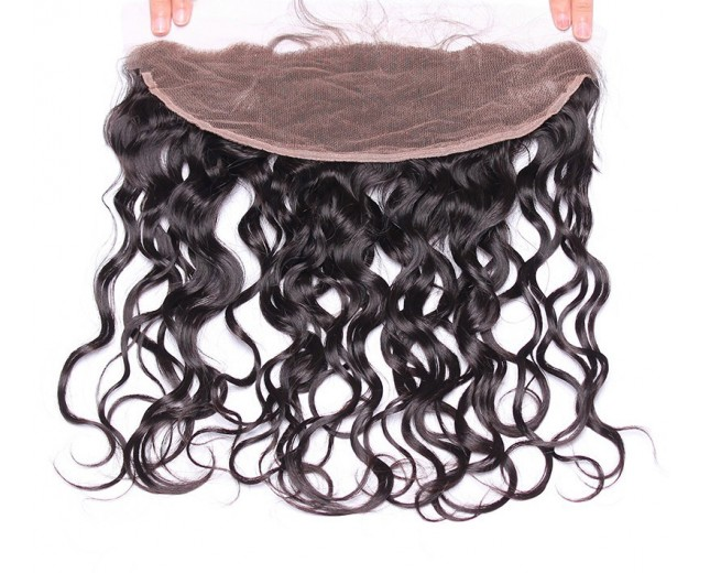 13''*4'' Water Wave Lace Frontal Brazilian Virgin Hair LC0051