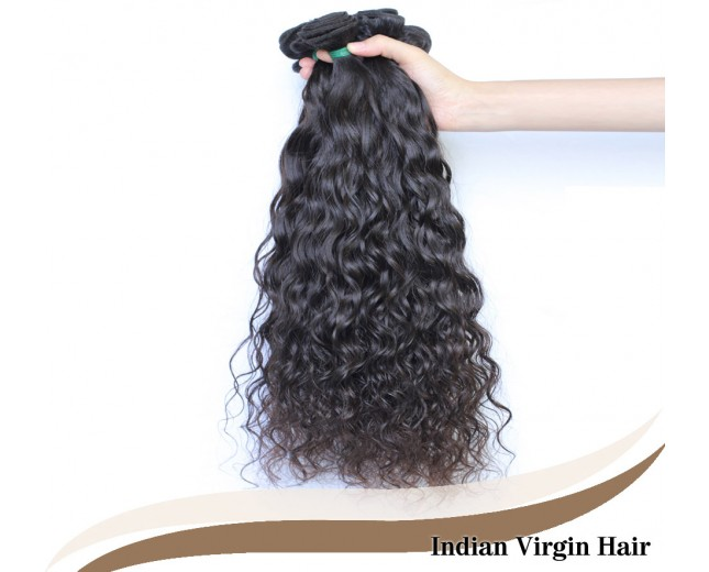 3pcs/lot Water Wave Indian Virgin Hair Weave Bundles ID007
