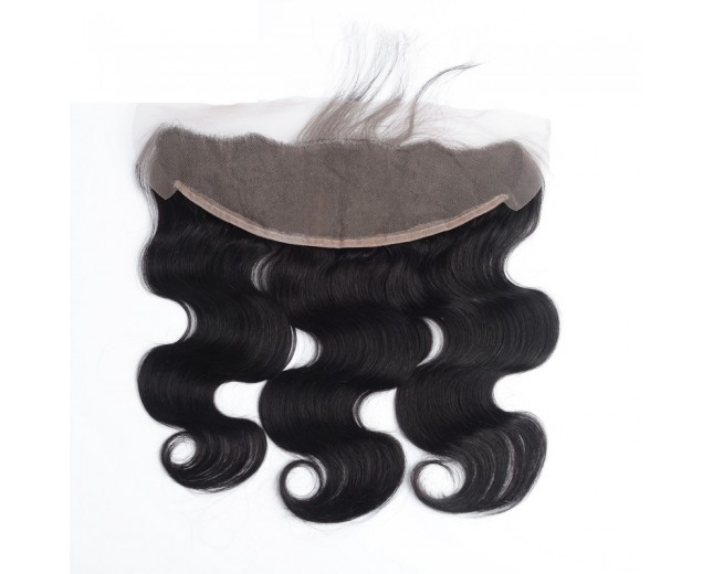 """Peruvian Lace Frontal Body Wave 13""""*4""""  Ear to Ear Full Frontal Lace Closure LC0058"""