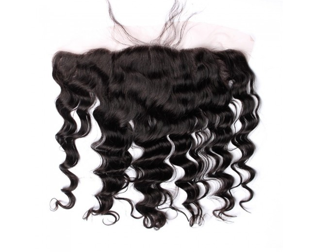 "Peruvian Loose Wave Lace Frontal 13""*4"" Ear to Ear Full Frontal Lace Closure LC0060"