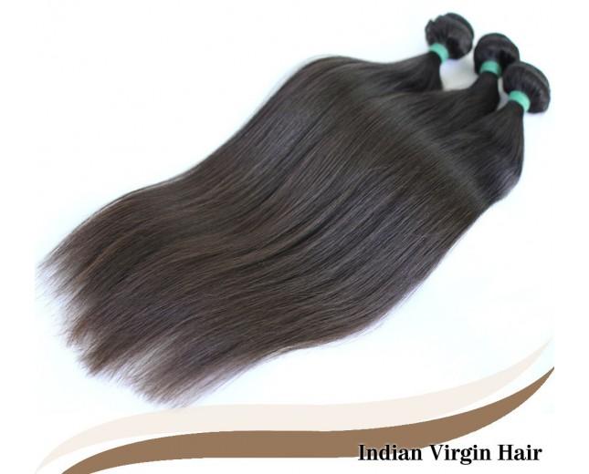 3pcs/lot Virgin Indian Hair Weave Bundles Straight ID002